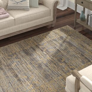 Menton Gray / Gold Area Rug by Lark Manor