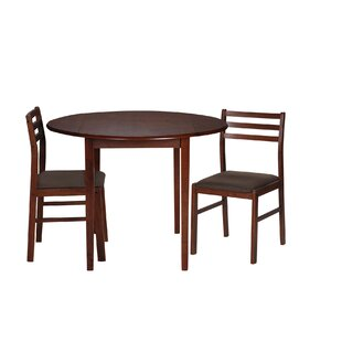 Nels 3 Piece Drop Leaf Dining Set by Charlton Home