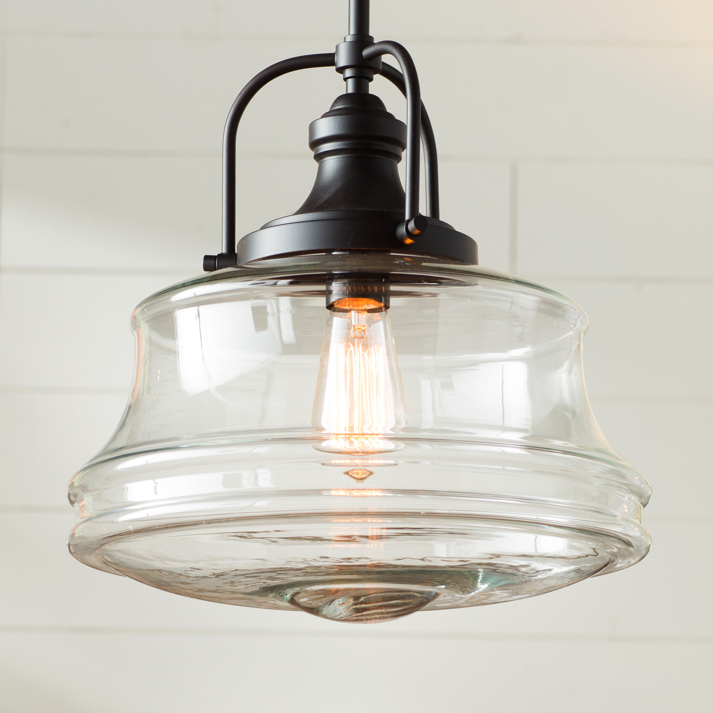 Industrial pendant lights youll love wayfair nadine 1 light schoolhouse pendant aloadofball Gallery