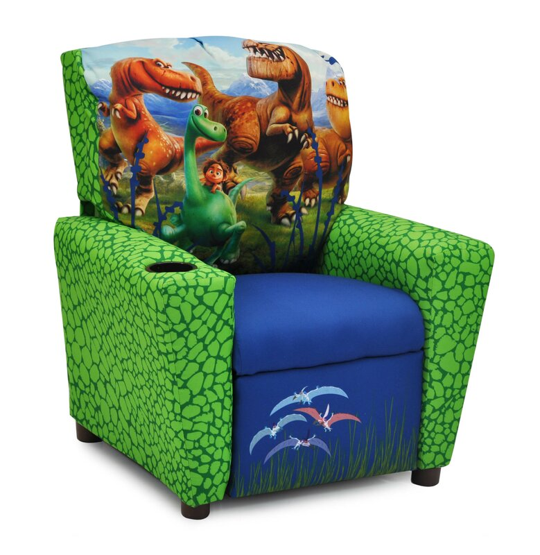Disneyu0027s the Good Dinosaur Kids Recliner with Cup Holder  sc 1 st  Wayfair : child size recliner with cup holder - islam-shia.org