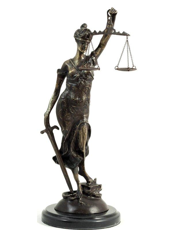 World Menagerie Levi Lady Justice Figurine Wayfair