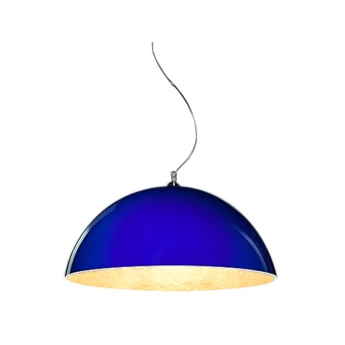 Jada 1-Light Bowl Pendant Ivy Bronx Shade Colour: Blue and g