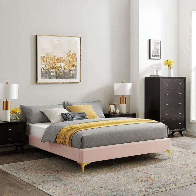 Mercer41 Seval Upholstered Low Profile Platform Bed Reviews Wayfair