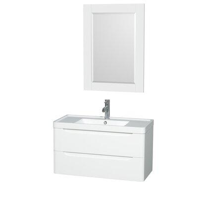 "White Bathroom Vanity 36 wyndham collection murano 36"" single glossy white bathroom vanity"