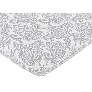 Coupon Elizabeth Damask Print Fitted Crib Sheet BySweet Jojo Designs