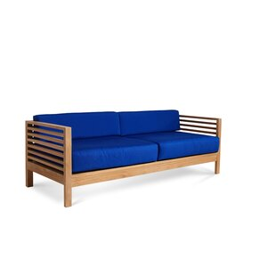 Crider Teak Patio Sofa with Cushions