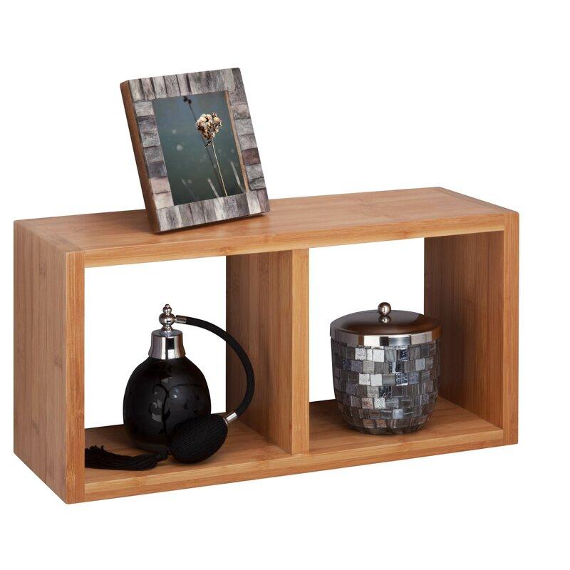 Honey Can Do Bamboo Double Wall Shelf | Wayfair