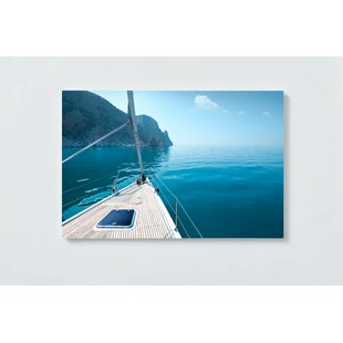 Sailboat Motif Magnetic Wall Mounted Cork Board By Ebern Designs