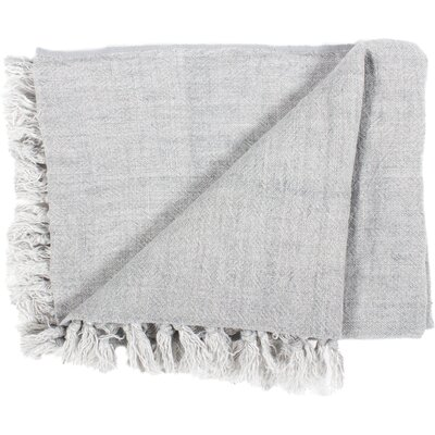 Brayden Studio Feingold Linen Throw Color: Light Gray