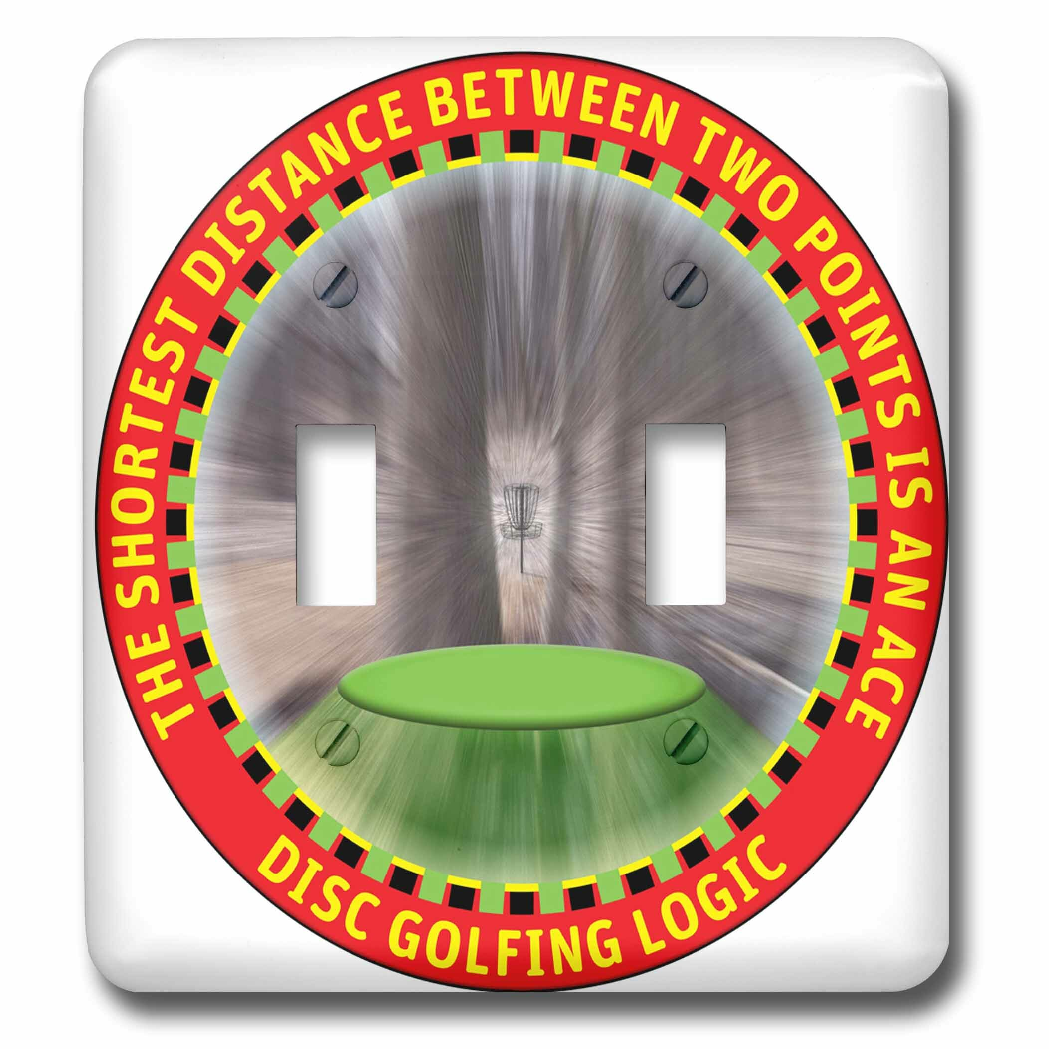 3drose Disc Golf Logic 1 A Frisbee Disc Golf Driver Flies Straight To The Basket Of Chains 2 Gang Toggle Light Switch Wall Plate Wayfair