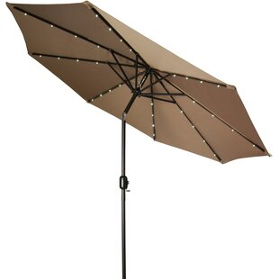 Outdoor Umbrella With Lights Patio umbrella with led lights wayfair north walsham 9 lighted umbrella workwithnaturefo