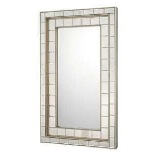 Antique Silver Glass Traditional Wall Mirror