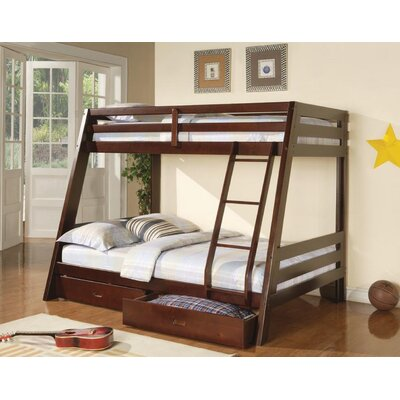 Voss Zachary Twin Over Full Bunk Bed Harriet Bee