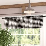 Check Lined Window Valance
