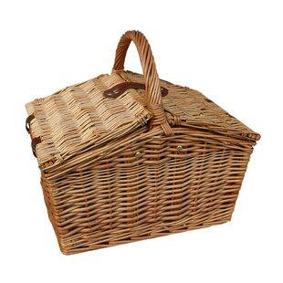 Slope-Sided Wicker Picnic Basket By Brambly Cottage