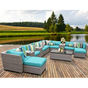 Meeks 14 Piece Sectional Seating Group with Cushions