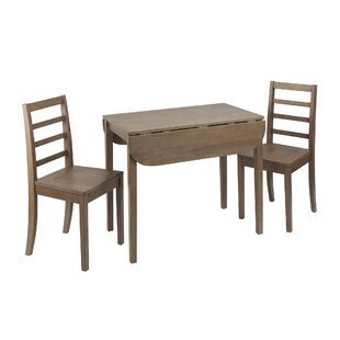 Wasdale 3 Piece Drop Leaf Breakfast Nook Dining Set by Winston Porter