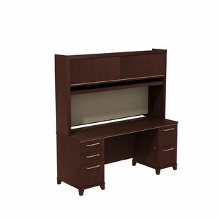 Enterprise Double Pedestal Executive Desk with Hutch
