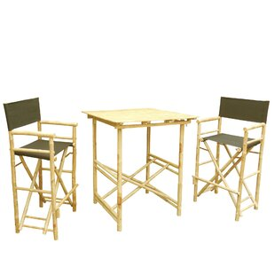 3 Piece Bar Height Dining Set with Cushion