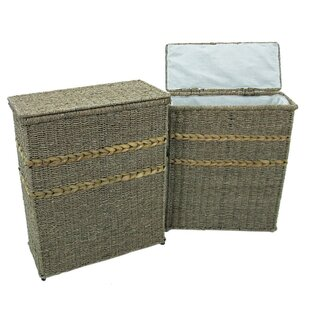 2 Piece Wicker Laundry Set By August Grove