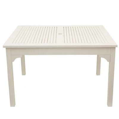 Aranmore Solid Wood Dining Table Color: Solid White by Beachcrest Home