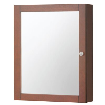 Winston Porter Clarkfield 19 x 23.88 Surface Mount Framed Medicine Cabinet with 2 Adjustable Shelves Finish: Cherry