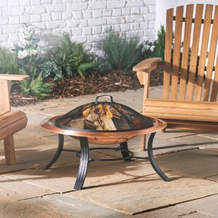 Copper Wood Burning And Charcoal Fire Pit