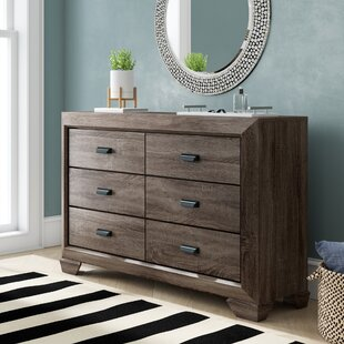 Brayden Studio Weldy 6 Drawer Double Dresser