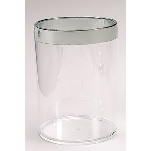 Carnation Home Fashions Acrylic 1.2 Gallon Waste Basket