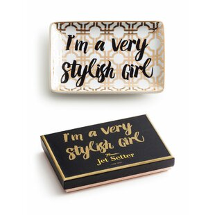 Jet Setter I'm a Very Stylish Girl Jewelry tray Trinket Dish