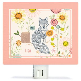 Oopsy Daisy Hiding Fox Canvas Night Light