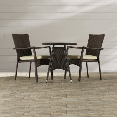 Brandon 3 Piece Bistro Set by Beachcrest Home Today Only Sale
