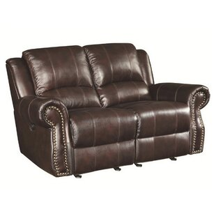 Shop Algona Leather Reclining Loveseat by Canora Grey