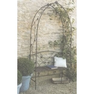 Eila Wrought Iron Arbour By Brambly Cottage