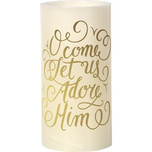 O Come Let Us Adore Him Unscented Flameless Candle