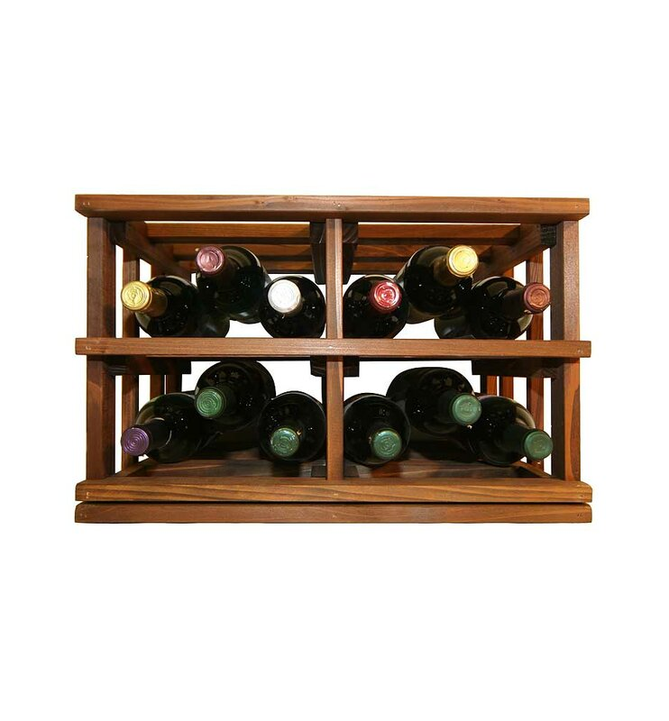 Darby Home Co Allaire Rustic 12 Bottle Tabletop Wine Rack Wayfair