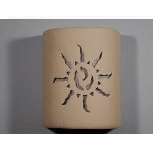 Brookline Southwestern Open Top Ancient Sun 1-Light Outdoor Sconce