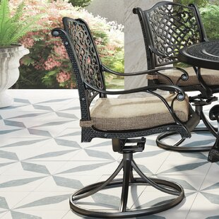 Dolly Swivel Patio Dining Chair with Cushion (Set of 2)
