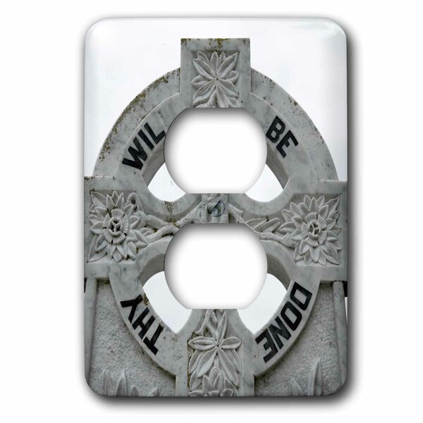 Ireland, County Mayo, Murrisk, Celtic Cross 1-Gang Duplex Outlet Wall Plate by 3dRose