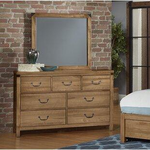 Loon Peak Rakowski 7 Drawer Dresser With Mirror
