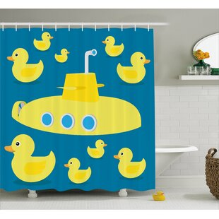 Stephen Duck Yellow Submarine Single Shower Curtain