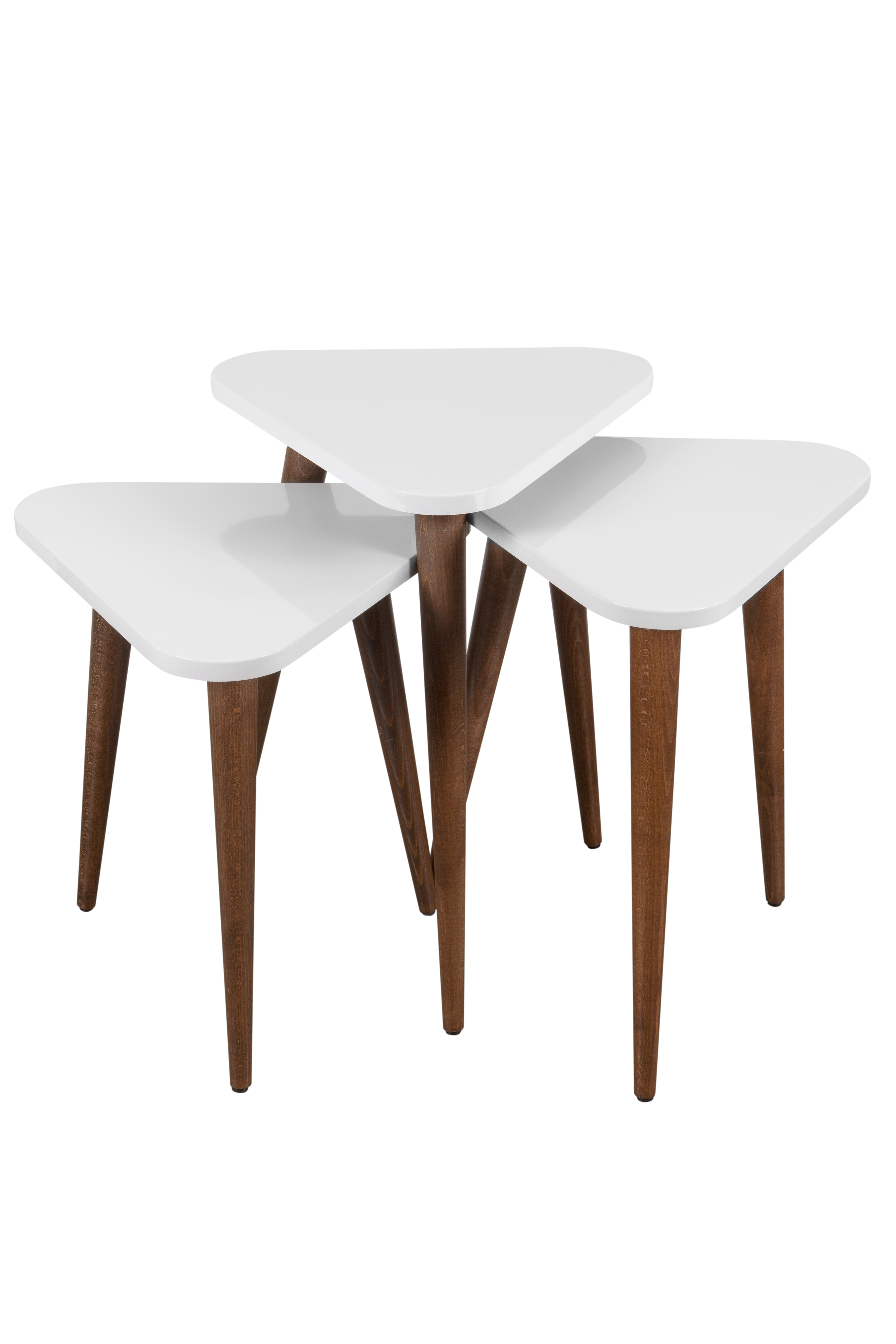 George Oliver Wansley Triangle 3 Piece Nesting Tables | Wayfair
