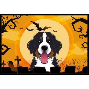 Halloween Bernese Mountain Dog Doormat