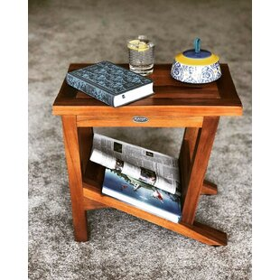 Burden Patio Teak Side Table by Millwood Pines Best Choices