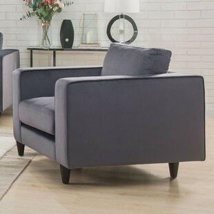 Reynoldsburg Tapered Legs Velvet Upholstered Armchair