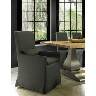 Hoang Arm Dining Charcoal Gray Upholstered Dining Chair by Gracie Oaks New Design