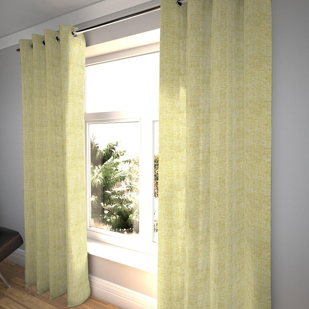Klothilde Rhumba Tailored Eyelet Room Darkening Thermal Curt