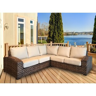 Lankford Patio Sectional with Cushions by Bayou Breeze