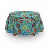 Funny Swim Float Rubbers Ottoman Slipcover (Set of 2) by East Urban Home