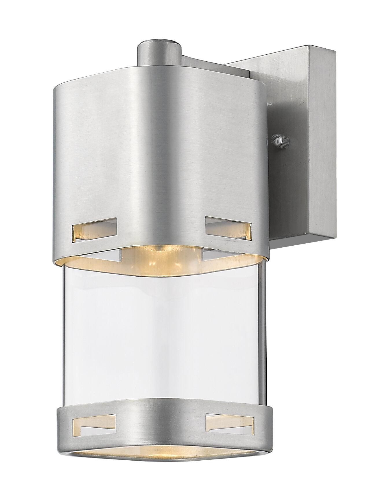 Room Essentials LED Outdoor Metal Lantern in Grey/'s Harbor